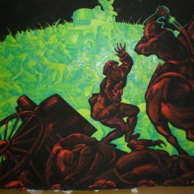 Τμήμα (300x200cm) της Οκτωβριανής Επανάστασης 3000x200cm